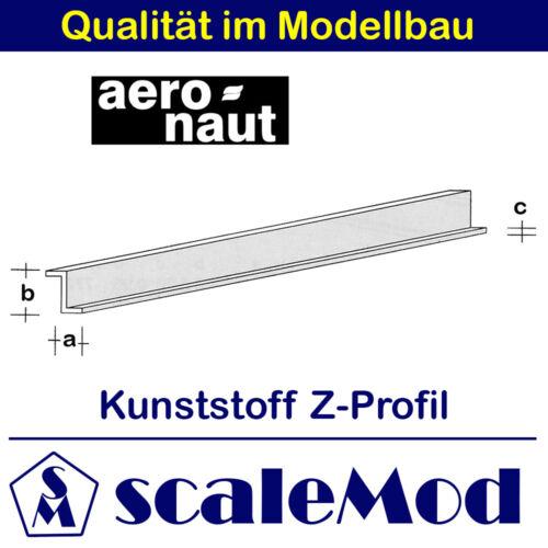 Z-Profil  VE 1 Stk 1000 mm // 3,5x7,0 mm 7729//84 Kunststoff Aeronaut ASA