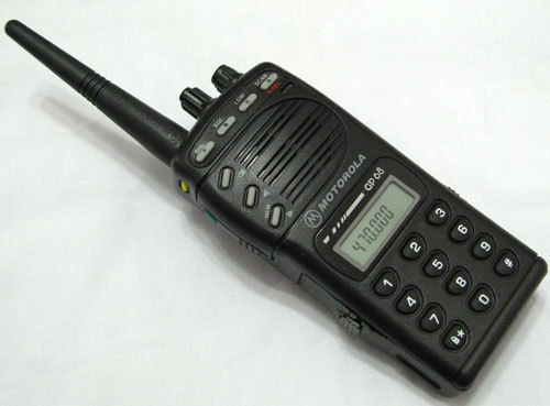 Motorola GP68 VHF 136-174MHz 5W 20 Channel 2-Way Radio Accessories W//O BATTERY