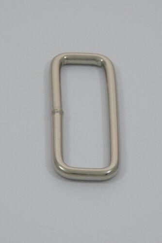 """38mm 1.1//2/"""" Rectangle Welded Loop Ring Metal Nickel Nickle Rings Loops Bag Belt"""