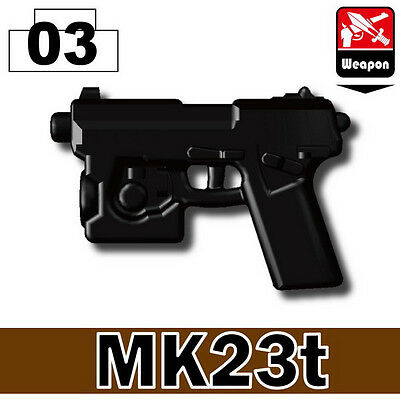 MK23T (W150) Pistol Special Force compatible w/ toy brick minifigures ARMY SWAT