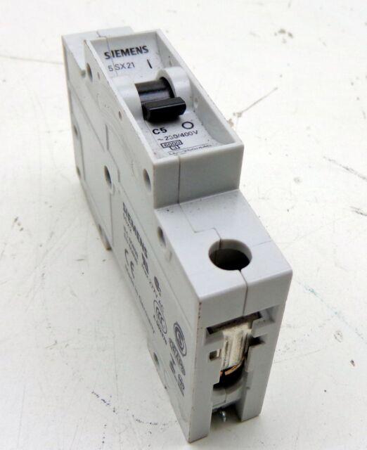 Siemens 5sx21 C5 230/400v 5 Amp Circuit Breaker | eBay