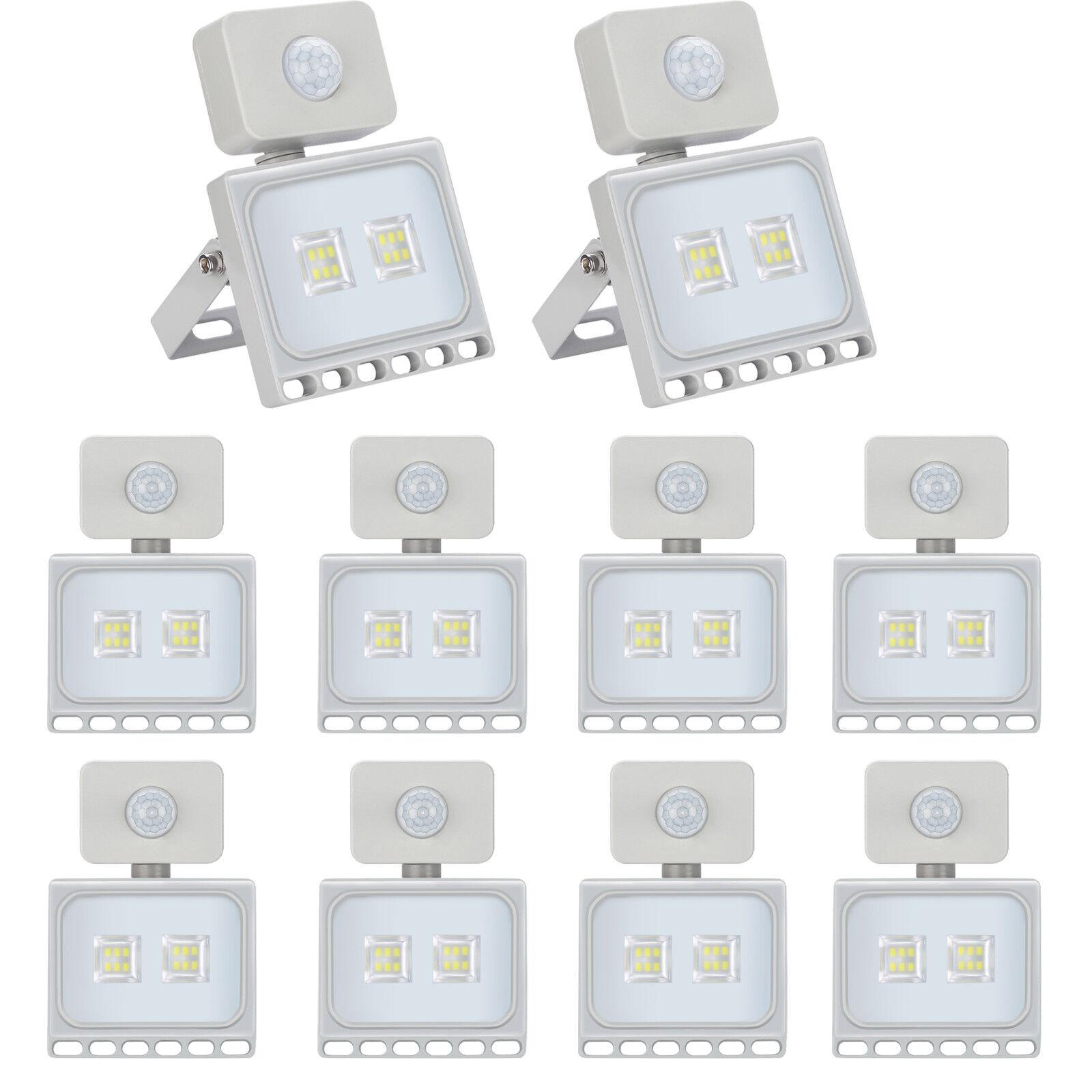 10x 10w LED eh con PIR detectores de movimiento exterior frío blancoo focal