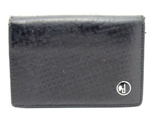 Authentic-Dunhill-Leather-Bifold-Card-Business-Card-Holder-Wallet-Black