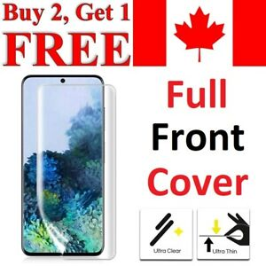 Curved Screen Protector For Samsung Galaxy S21 Ultra S20 Plus S10 S9 S8 S7 Edge