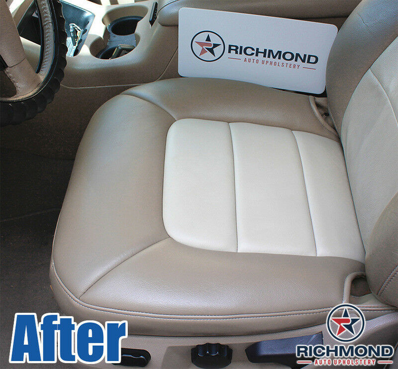 Driver Side Bottom Leather Seat Cover Tan 2002 Ford Explorer Sport Trac Value