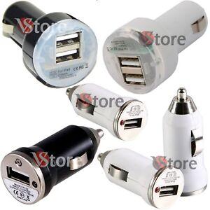 Carica-Batterie-USB-Mini-Accendisigari-Auto-Per-Smartphone-Cellulari-MP3-MP4-12V