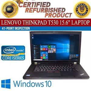 Lenovo-ThinkPad-T530-15-6-034-Intel-i5-8GB-RAM-500GB-HDD-Win-10-WiFi-B-Grade-Laptop