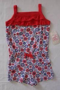 19f1d6529871 NEW Baby Girls Romper 12 Month Flowers Ruffles Sleeveless Shorts ...