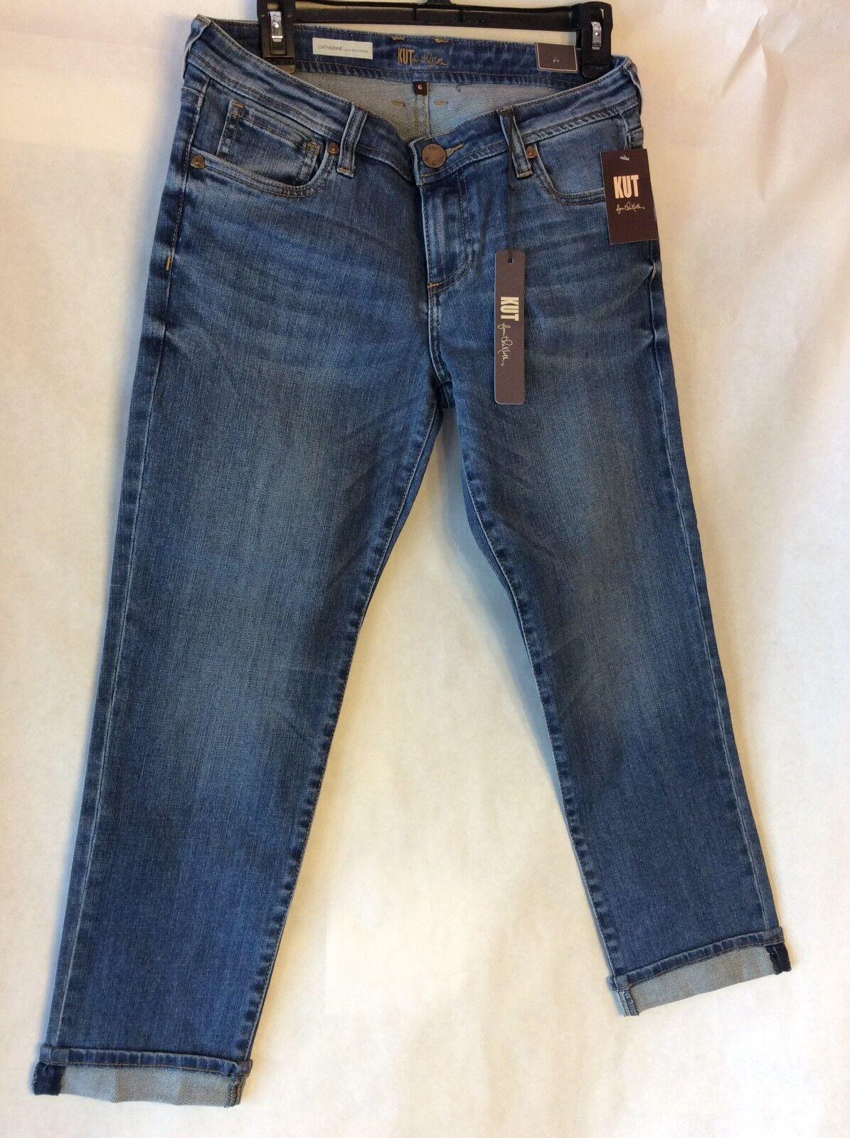 NWT KUT Catherine Slim Boyfriend Size 6 Womens Jeans  89