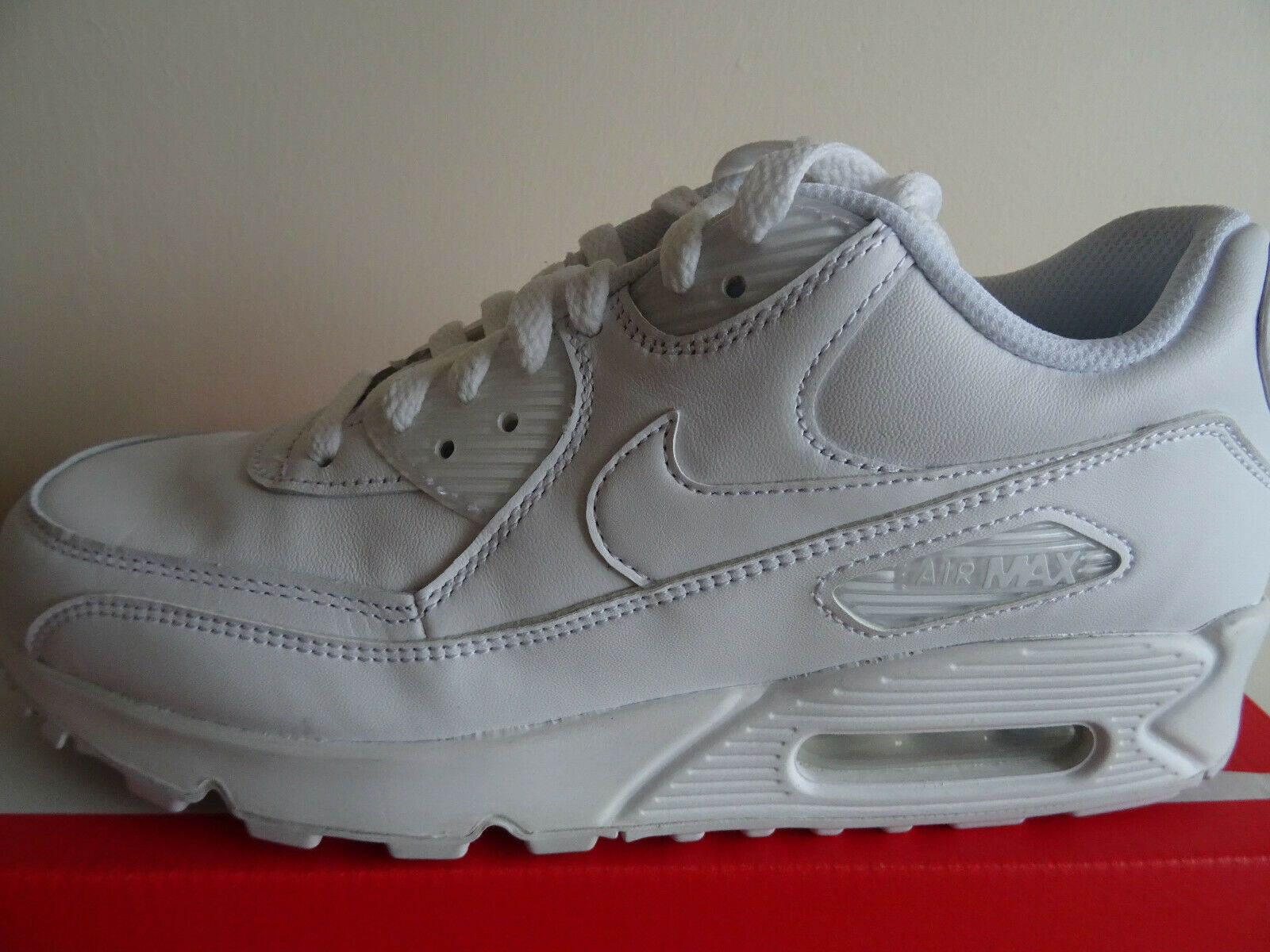 Nike Air Max 90 Leather mens trainers Turnschuhe schuhe 302519 113 NEW+BOX