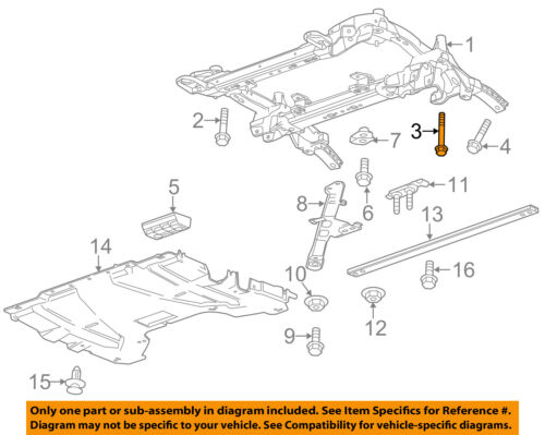 GM OEM Front Suspension-Engine Cradle Mount Bolt 11547921