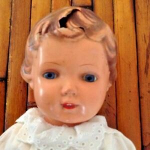 Antique (pre-1930) Celluloid Right Leg Minerva 48 Always Buy Good Dolls & Bears