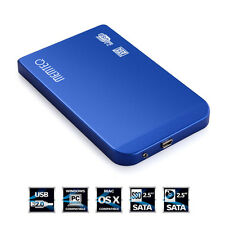 USB2.0 2.5inch SATA HDD Hard Drive Disk External Box Case Cover + Cable + Pouch