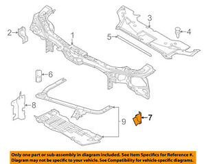 FORD OEM Mustang Radiator Core Support-Air Baffle Duct Deflector Left BR3Z8311D
