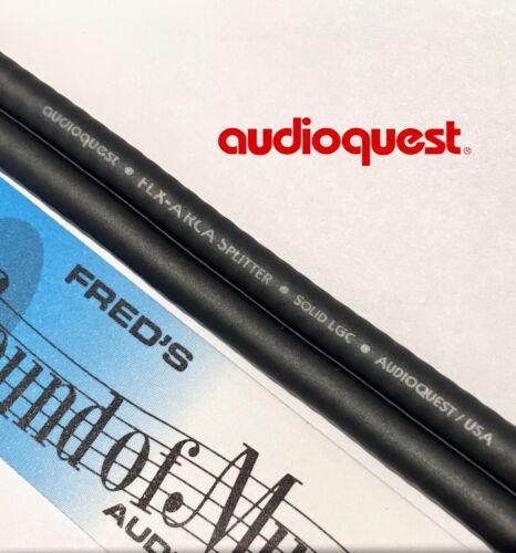 NEW Audioquest RCA Y Splitter Cable Super Flex 1-Male 2-Female AQ Better Quality