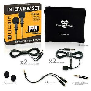 2-Lavalier-Lapel-Microphones-Set-for-Dual-Interview-Dual-Lavalier-Microphone