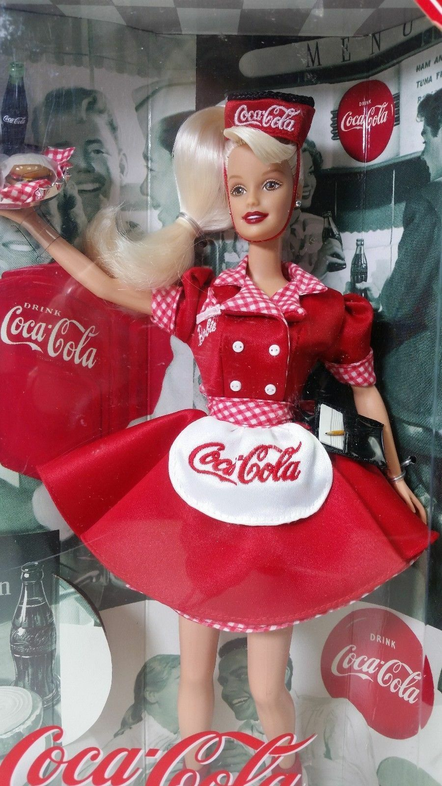 @-BARBIE COCA COLA RAR SELTEN SODA FOUNTAIN WAITRESS VINTAGE PUPPE MAJORETTE