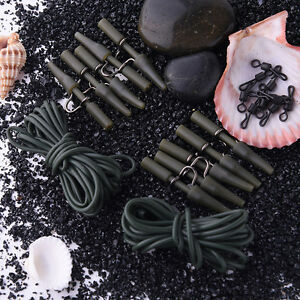 Carp-Fishing-Tackle-32pc-weight-lead-clips-Quick-link-swivels-rig-tube-Hair-O7M7
