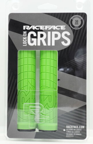 Green 30mm Carbon Friendly and Comfortable RaceFace Grippler Lock-On Grips