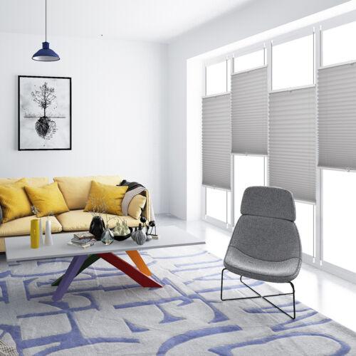 Jalousie Plissee Klemmfix ohne Bohren Faltrollo Sonnenschutz Easy Fenster Tür