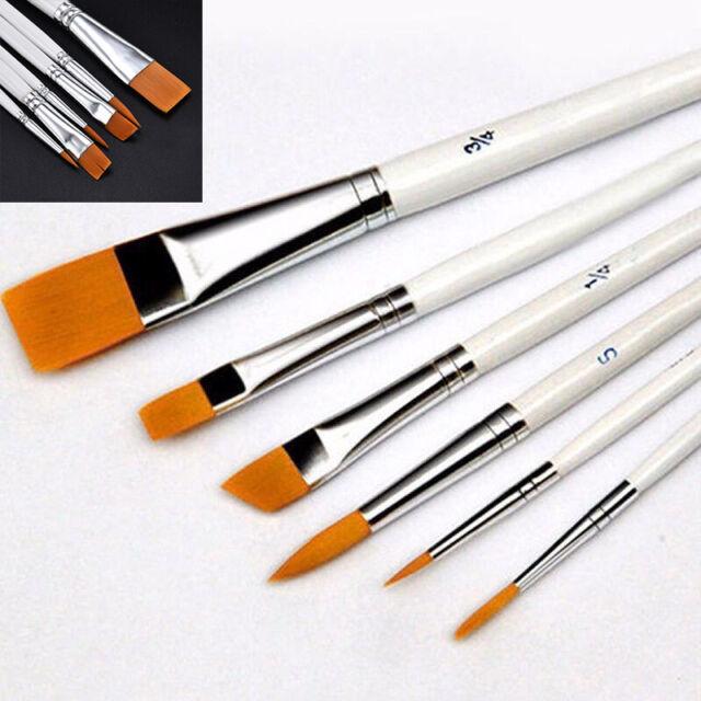 Silverline Artists Paint Brush Set 12pce Flat Tips Tipped 633927 Artist