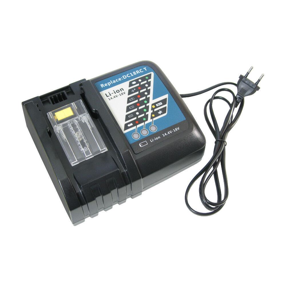 Ladegerät Schnellladestation 14,4V 18V Li-Ion Akku für Makita BL1830 BL1815