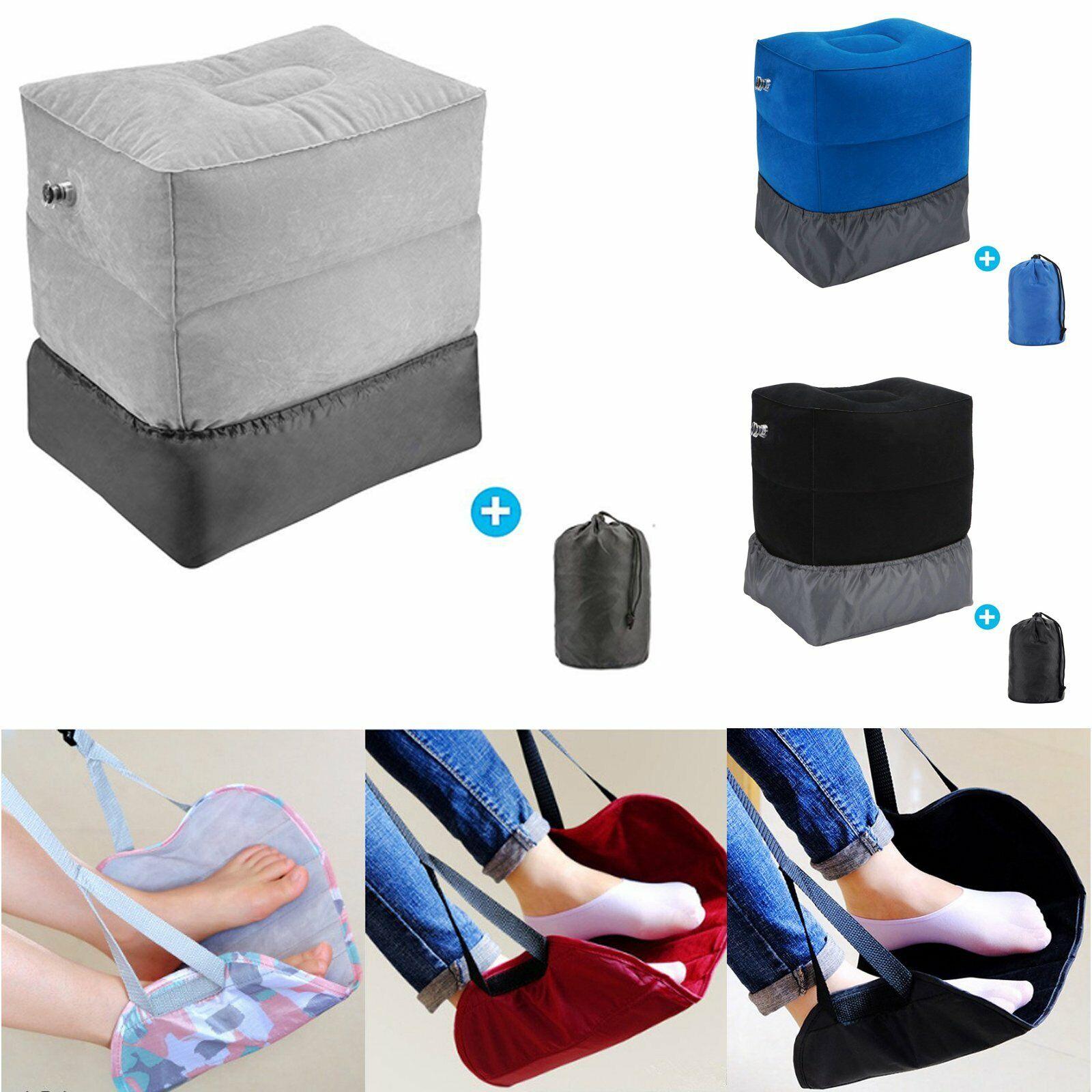 Travel Footrest Inflatable Hammock Plane Train Leg Foot Rest Pad Pillo... - s l1600