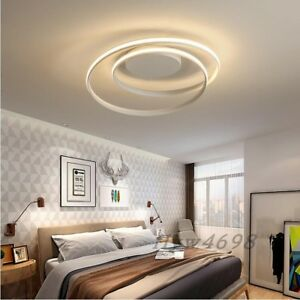 Details about White/Black Modern Chandelier Bedroom Living Room Home Decor  Round Chandeliers