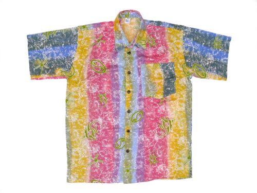 Hawaiihemd Hawai Freizeit Hemd Shirt Viskose bunte Unterwasserwelt Seesterne