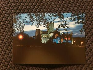 Wells-Cathedral-by-Night-Somerset-Vintage-Postcard