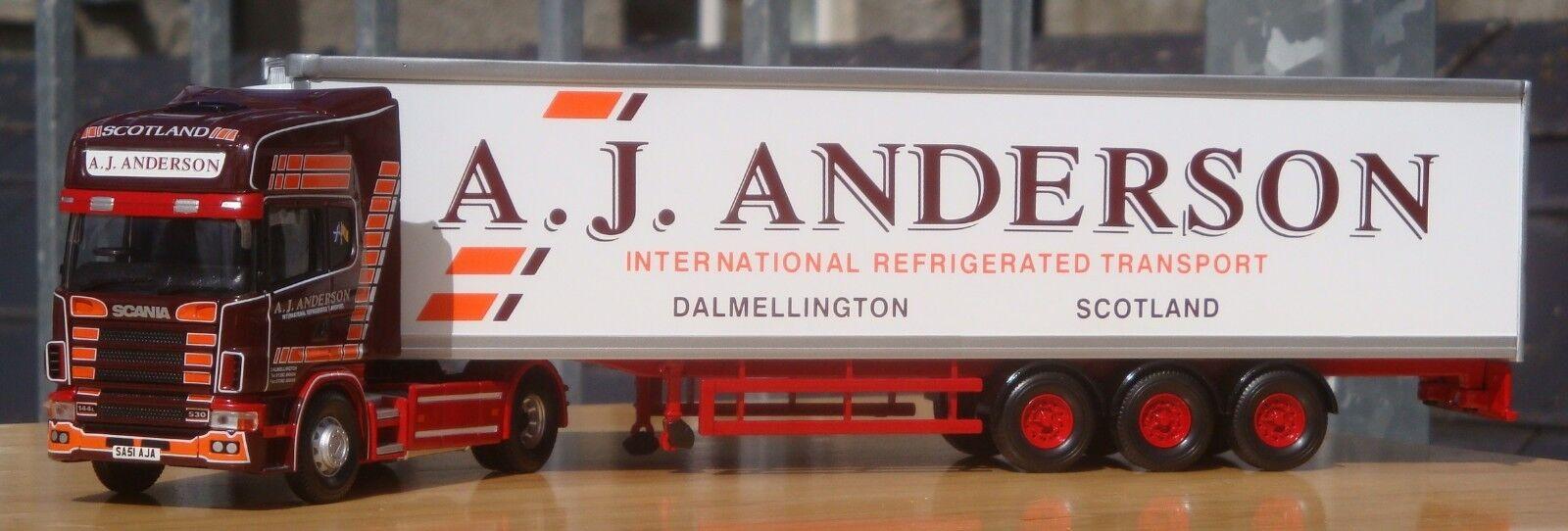 Corgi CC12934, Scania Topline Fridge Trailer -  A J Anderson Transport , 1 50