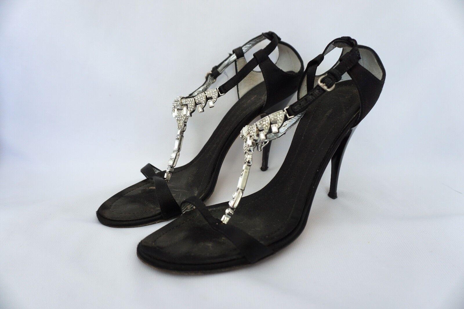 Giuseppe Zanotti Elegant Evening Rhinestone Embellished Round Toe Sandals  795