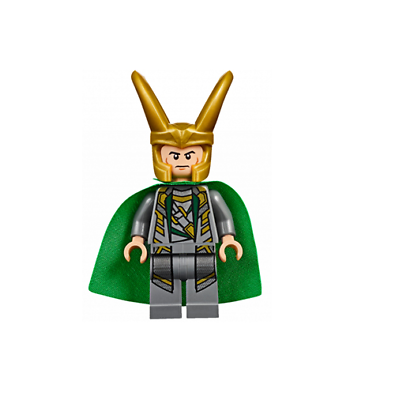 Shiny Starched Fabric Cape Suit FROM SET 10721 JUNIORS NEW LEGO Loki sh033a