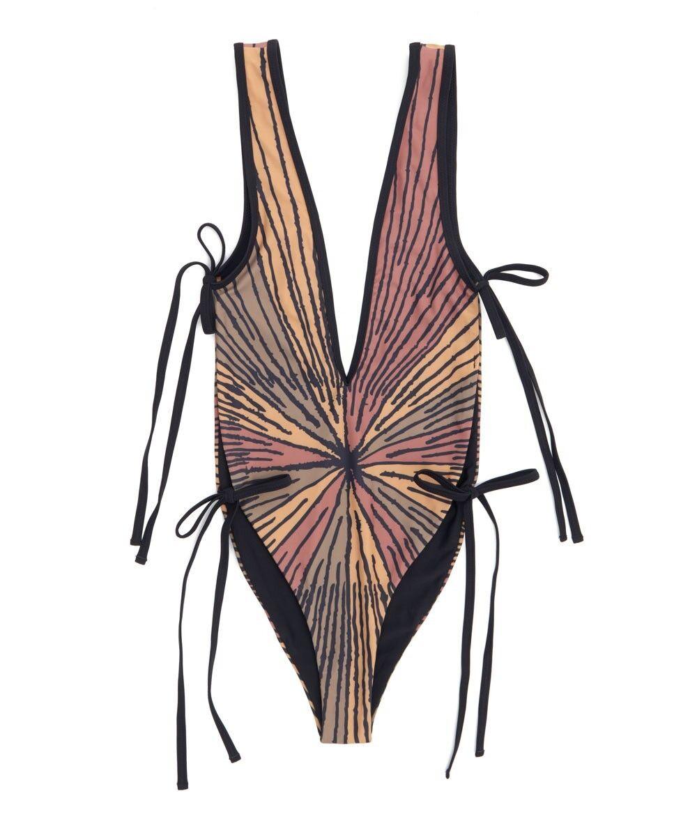 158 ONE X One Teaspoon LE TIGRE Skyhigh MONOKINI Bathing Suit SWIMWEAR ( S )