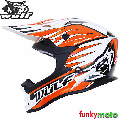 Wulfsport Adult Sceptre Motorbike Helmet /& Wulf Adult Motocross Goggles /& Gloves Red S 55-56cm
