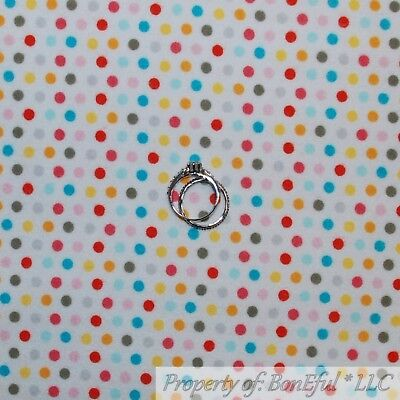 BonEful Fabric FQ Cotton Quilt Flannel Red White Blue Pink Girl Baby Flower Dot