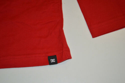 14 /& 16  YEARS RED- SIZES- 12 NEW DC Shoes Boys Long Sleeve Printed T Shirt