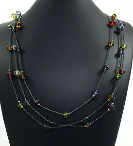 Extra-Long-Charcoal-Chain-Necklace-With-Jewel-tone-Glass-Beads