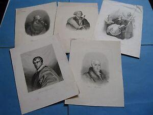 LOT-5-PORTRAITS-PERSONNALITES-POLOGNE-1840-POTOCKI-BIELINSKI-ZAMOYSKI-SOLTYK