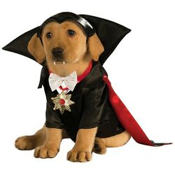Dracula Costume Pet Halloween Fancy Dress