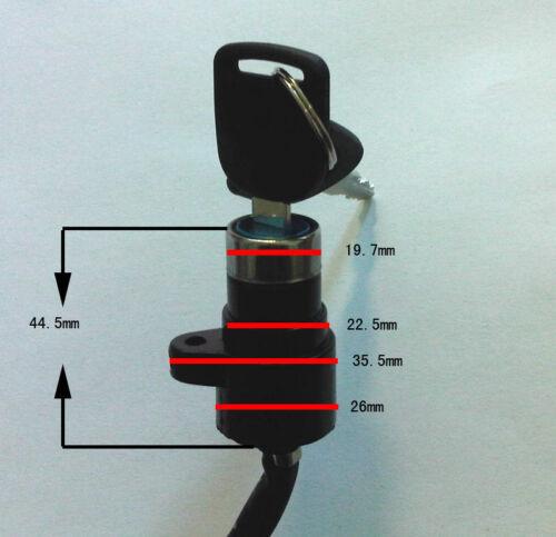 Ignition Key Switch Lock  ATV Moped Go Kart Electric Motorcycle Dirt Bike