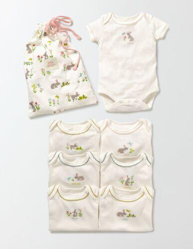 Girls New Ex Baby Boden Bodies Body Vest Romper Babygrow Floral Elephant Rabbit