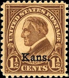 1929-1-1-2c-Warren-G-Harding-034-Kansas-Overprint-034-Scott-659-Mint-F-VF-NH