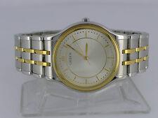 Japan Seiko Credor silver dial 18K Gold bezel quartz dressing watch