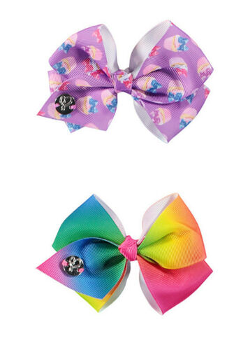 JoJo Siwa 7 Days of the Week Girls Hair Bow Licensed Rainbow Cupcake Donut Jo Jo