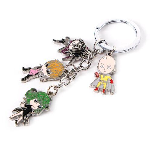 Anime Saitama Key Chain Keyring Colorful Pendant Accessori#gwt One Punch Man