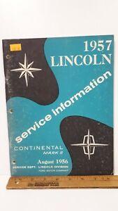 1957-LINCOLN-Continental-Original-Shop-Manual-Very-Good-Condition-US