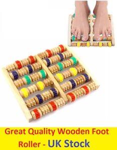 New-Wooden-Foot-Roller-Massager-Wood-Massage-Reflexology-Relax-Relief-SPA-Care