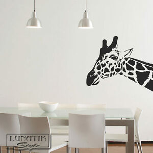 wandtattoo wandaufkleber giraffe afrika giraffenkopf wa50 ebay. Black Bedroom Furniture Sets. Home Design Ideas