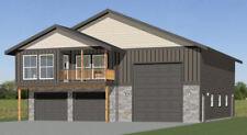 44x48 Apartment with 2-Car 1-RV Garage - PDF FloorPlan - 1,528 sqft - Model 5F